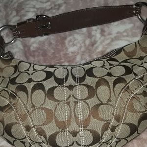 Vintage Coach traditional monogram brown and tan
